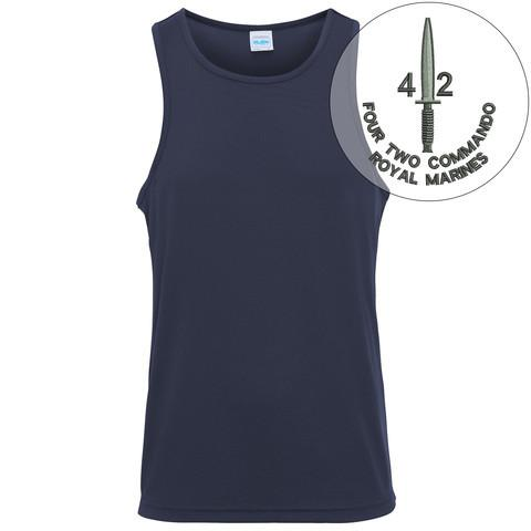 T-Shirts - 42 Commando Embroidered Sports Vest