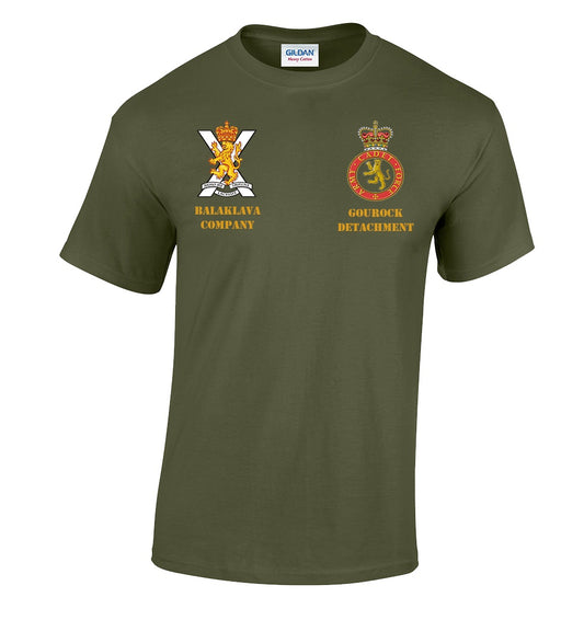 T-Shirts - Balaklava Coy Gourock Multi Logo Embroidered T-Shirt