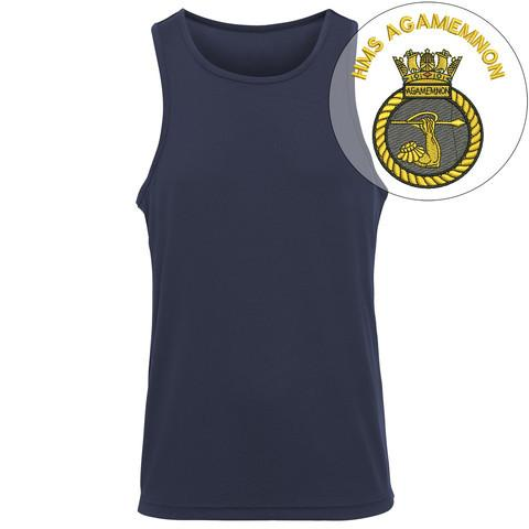 T-Shirts - HMS Agamemnon Embroidered Sports Vest