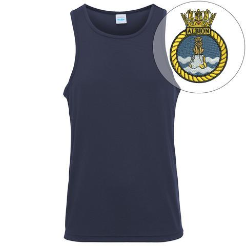 T-Shirts - HMS Albion Embroidered Sports Vest