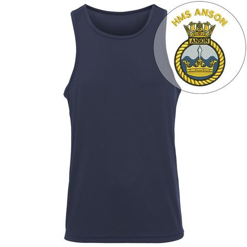 T-Shirts - HMS Anson Embroidered Sports Vest
