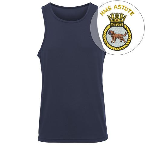 T-Shirts - HMS Astute Embroidered Sports Vest