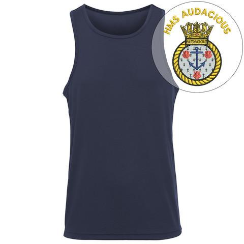 T-Shirts - HMS Audacious Embroidered Sports Vest