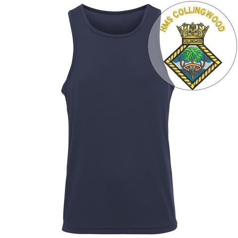 T-Shirts - HMS Collingwood Embroidered Sports Vest