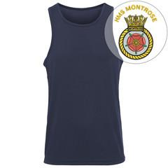 T-Shirts - HMS Montrose Embroidered Sports Vest