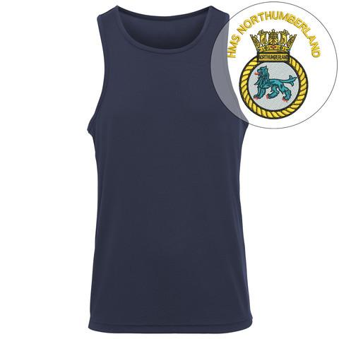 T-Shirts - HMS Northumberland Embroidered Sports Vest
