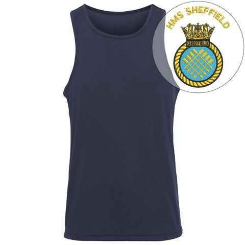 T-Shirts - HMS Sheffield Embroidered Sports Vest