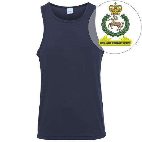 T-Shirts - Royal Army Veterinary Corps Embroidered Sports Vest