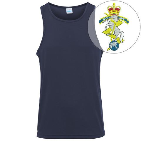 T-Shirts - Royal Electrical And Mechanical Engineers Embroidered Sports Vest