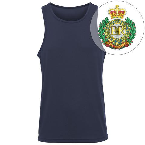 T-Shirts - Royal Engineers Embroidered Sports Vest