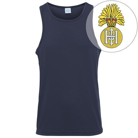 T-Shirts - Royal Highland Fusiliers Embroidered Sports Vest