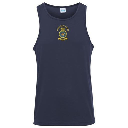 T-Shirts - Royal Navy Police Embroidered Sports Vest