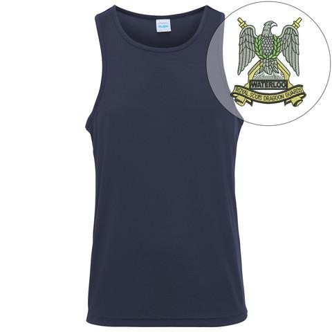 T-Shirts - Royal Scots Dragoon Guards Embroidered Sports Vest