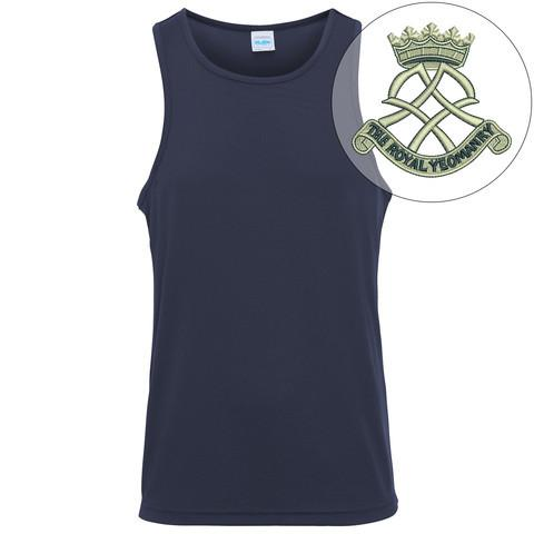 T-Shirts - Royal Yeomanry Embroidered Sports Vest