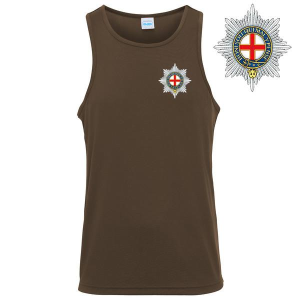 T-Shirts - The Coldstream Guards Embroidered Sports Vest