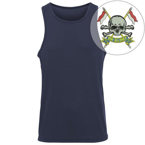 T-Shirts - The Royal Lancers Embroidered Sports Vest