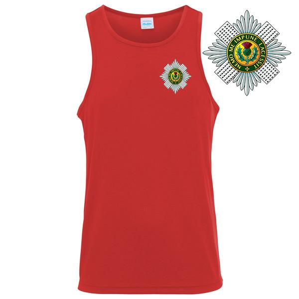 T-Shirts - The Scots Guards Embroidered Sports Vest