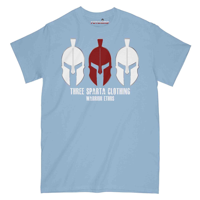 THREE SPARTA WARRIOR ETHOS WHITE OPS Military Printed T-Shirt