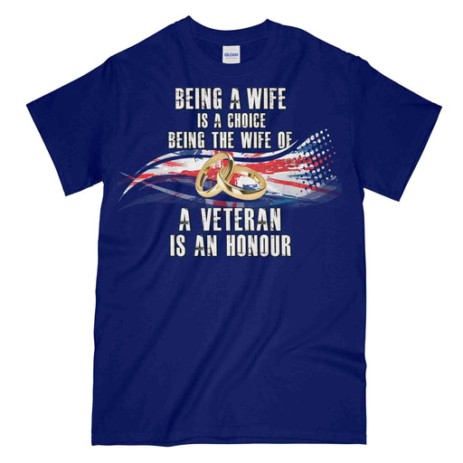VETERANS WIFE Printed T-Shirt