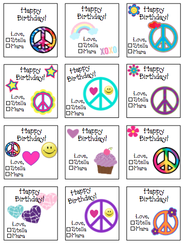 Personalized Peace Mix Gift Stickers