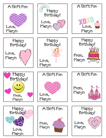 Personalized Mostly Hearts Gift Stickers