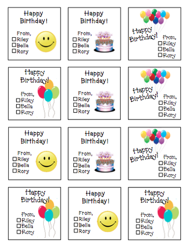 Personalized Generic Gift Stickers -V1