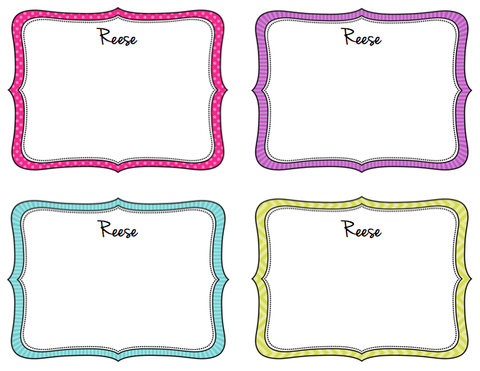 Note cards - Bold Borders