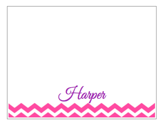 Note Cards - Hot Pink Chevron