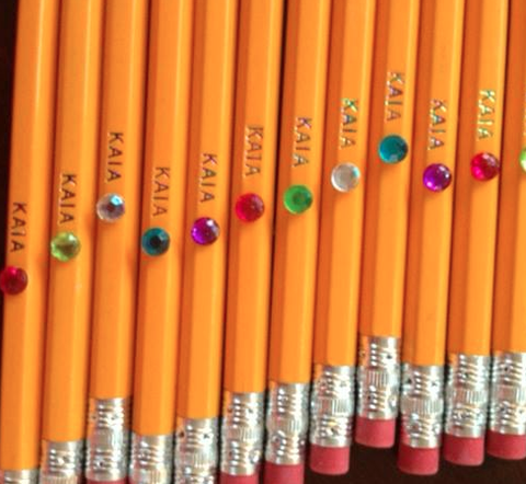 Personalized Pencils - Yellow