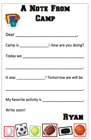 "Personalized ""Fill in the blank"" Sports Notepad"