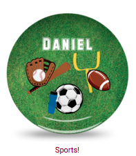 Personalized Plate - Sports