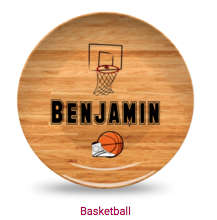 Personalized Plate - Basketball