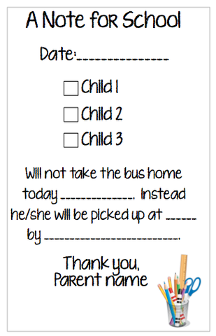 Personalized School Notepad - Version 1