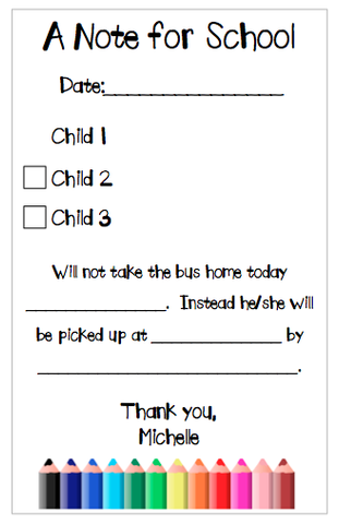 Personalized School Notepad - Version 3