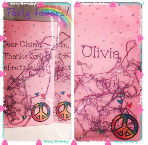 Party Favor Notepads - Pink Peace version 2