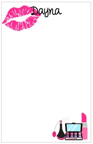 Personalized Makeup Notepad