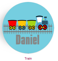 Personalized Plate - Train