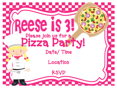 Invitation - Pizza Party