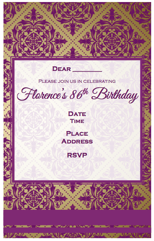 Invitation - Purple/Gold