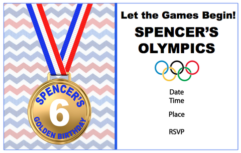Invitation - Olympics Theme