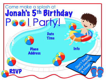 Invitation - Pool Party