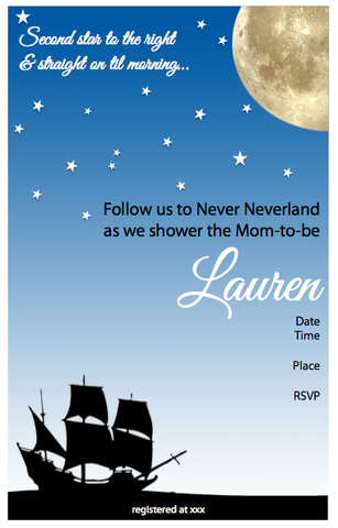Invitation - Neverland Baby Shower