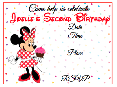 Invitation - Minnie V1