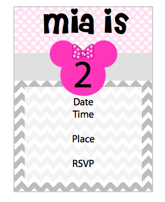 Invitation - Minnie V3