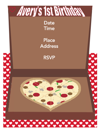 Invitation - Pizza Box