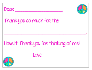 Fill-in-the-Blank Thank You Notes - Colorful Peace V2