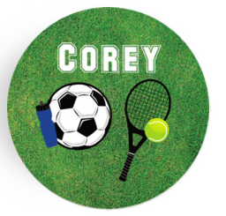 Personalized Plate - Soccer/Tennis