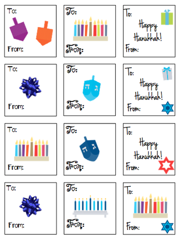 Personalized Hanukkah Gift Stickers - V1