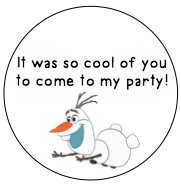 Stickers For Favors- snowman