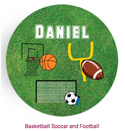 Personalized Plate - Basketball/Football/Soccer